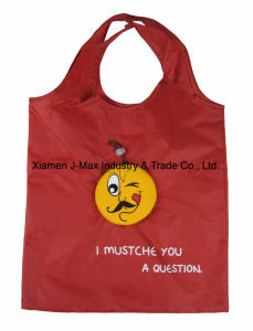 Foldable Shopper Bag, Mustache Style, Promotion, Tote Bag, Lightweight, Grocery Bags and Handy, Gifts, Reusable, Decoration & Accessories pictures & photos
