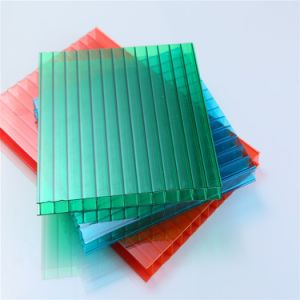 6mm Twin Wall Greenhouse Roof Polycarbonate Hollow Sheet pictures & photos