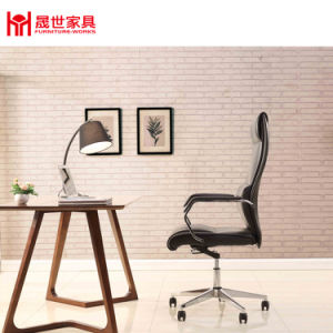 Shengshi Executive Leather Office Chair Specification/Chair Office/Ergonomic Office Chair with Chromed Five-Star Base pictures & photos