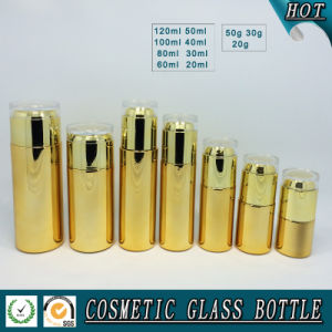 Cosmetic Packaging Gold Glass Bottles and Cream Jars pictures & photos