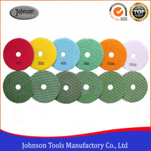 100mm Diamond Dry Marble Polishing Pad for Stone pictures & photos
