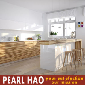 U Style Wood Melamine Kitchen Cabinets Malaysia Market pictures & photos