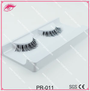 Clear Band Human Hair Eyelashes with Eyelash Packaging Box pictures & photos