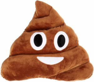 Soft Colorful Polyester Fabric Poop Emoji Pillow pictures & photos