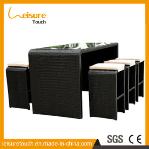 The Belt and Road Modern Hotel Patio Rattan Bar Chair and Table Set Garden Outdoor Bistro Furniture pictures & photos