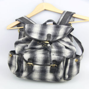 Fashion Checked Pattern Backpack for Girls, Women Shopping Bags, Leisure Outdoor Bag pictures & photos
