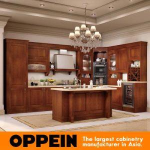 Oppein Antique Alder Wood Luxury Kitchen Cabinets (OP16-120B) pictures & photos