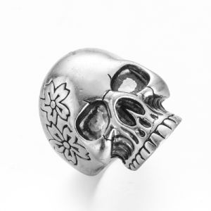 VAGULA Vintage Silver Ring Punk Skull Ring pictures & photos