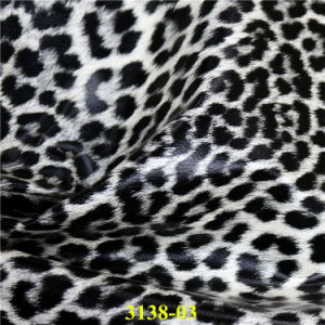 Fashion Leopard Grain PU Footwear Leather with Quality Assurance pictures & photos