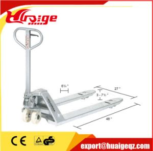 Galvanized Hand Pallet Truck for Corrosion Resistant Application pictures & photos