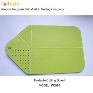 Cutting Board Plus Colander 2 in 1 Chopping Board with Integrated Strainer