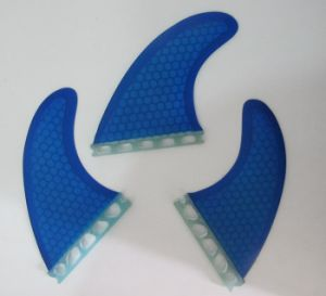 Blue Colour Glassfiber Honeycomb G7 G5 Fcs Surf Fin for Wholesale pictures & photos