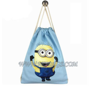 Fashion Wholesale Drawstring Sports Gift Hiking Canvas Travel Backpack Bag