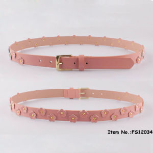 2017 New Fashion Pink Flower Belt pictures & photos