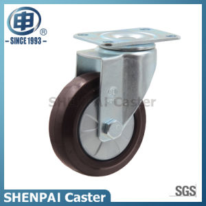"3""Brown Rubber Swivel Caster Wheel pictures & photos"
