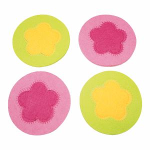 Colorful 100% Polyester Sewing Coaster for Cups & Decorations pictures & photos