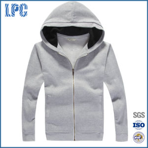 Mens Fashion Casual Hoodies Splicing Zipper Sport Hoodies pictures & photos