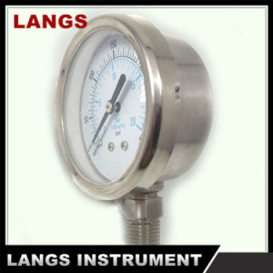 032 Auto Parts 50mm Stainless Steel Crimped Bezel Liquid Filled Pressure Gauge pictures & photos