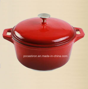 China Enamel Cast Iron Pot 3.5L LFGB, Ce, FDA, SGS Approved pictures & photos