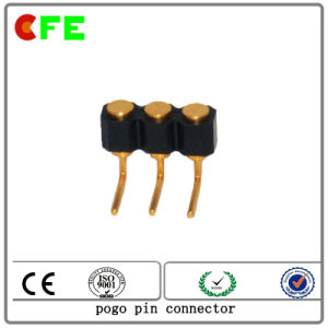 3pin Right Angle Gold Plated Spring Loaded Pogo Connector pictures & photos