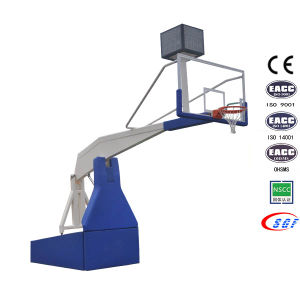 Professional Competition Indoor Foldable Portable Electric Hydraulic Basketball Hoops pictures & photos