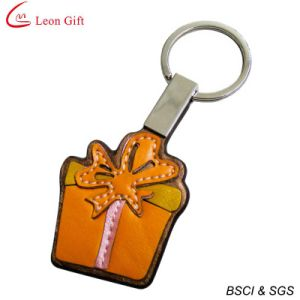 Stitching Personalize Leather Bag Shaped Keychain pictures & photos