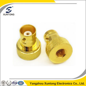 RF Adapter BNC Female to SMA Male Straight Gold Plated pictures & photos