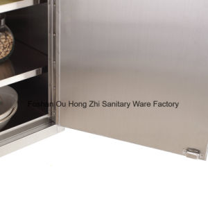 Modern Glossy Stainless Steel 304 Kitchen Cabinet Furniture pictures & photos