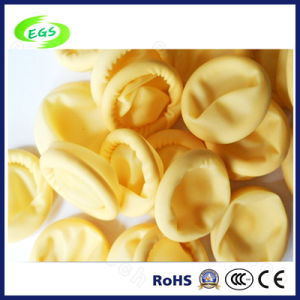High Quality Anti-Static Cream-Colored Antistatic Latex Finger Cot of Protectability pictures & photos