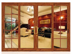 Silver Aluminum Frame Sliding Door pictures & photos