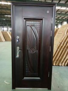 Steel Door with Second Lock Poland Russia (S001) pictures & photos