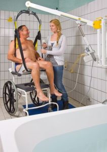 Ergonomic Wall Mounted Patient Lift for Bathtub or Wheelchair or Bed pictures & photos