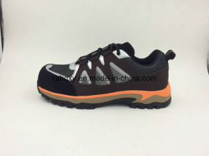 Casual Style Sports Designed Men′s Leather Safety Shoes pictures & photos