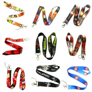 Personalised Custom Logo Polyester Neck Lanyard String for Activity pictures & photos