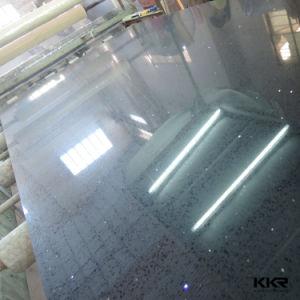 Black Engineered Artificial Quartz Stone Slabs pictures & photos