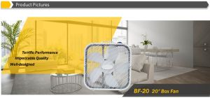 """Hot Sale 20"""" Square Box Fan with Iron Steel Frame and Plastic Grilles pictures & photos"""