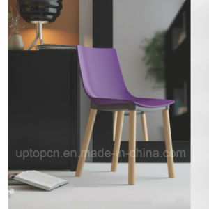 Plastic Chair with Beech Wood Leg for Fast-Food Restaurant (SP-UC496) pictures & photos