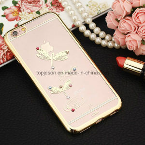 Diamond Dragonfly Electroplating Hard Anti Fall Cell Phone Case for iPhone 6/6s/6 Plus