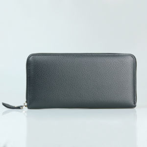 Lady Genuine Leather Purse Clutch Long Big Travel Wallet pictures & photos
