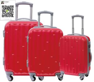ABS Zipper Trolley Case Luggage pictures & photos