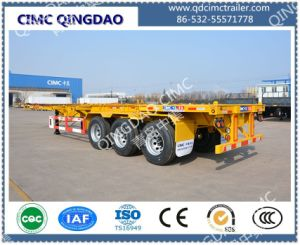 Cimc 40FT Three Anxle Skeleton Chassis Semi Trailer Truck Chassis pictures & photos