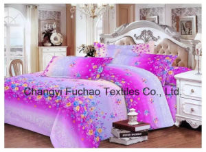 Printed Quilted Pigment Printing Microfiber Bedding Set pictures & photos
