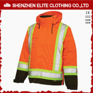 High Vis Men Workwear Reflective Winter Orange Jacket (ELTSJI-24) pictures & photos