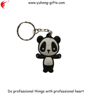 Custom Panda Logo Advertising PVC Keychain for Promotion (YH-KC173) pictures & photos
