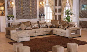 Living Room Sofa Fabric Home Wooden Sofa (HX-SL027) pictures & photos