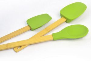 Silicone Cooking Utensil Set with Bamboo Handles pictures & photos