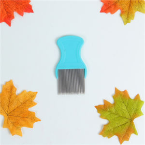 Stainless Steel Needle Pet Grooming Lice Comb pictures & photos