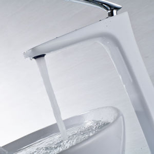 Flg White Paint Chrome Bathroom Water Basin Tap pictures & photos