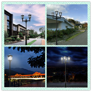 China Supplier LED Solar Lamp Landscape Post Lights of ISO9001 Standard pictures & photos