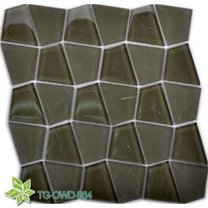 New Design Green Quadrilatera Glass Mosaic Wall Tiles Mosaic/Mosaico in Foshan (TG-OWD-884) pictures & photos